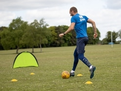 Lockdown training on village green for Tom Morris