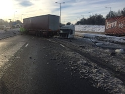 M5 closed after lorry jackknifes causing long delays