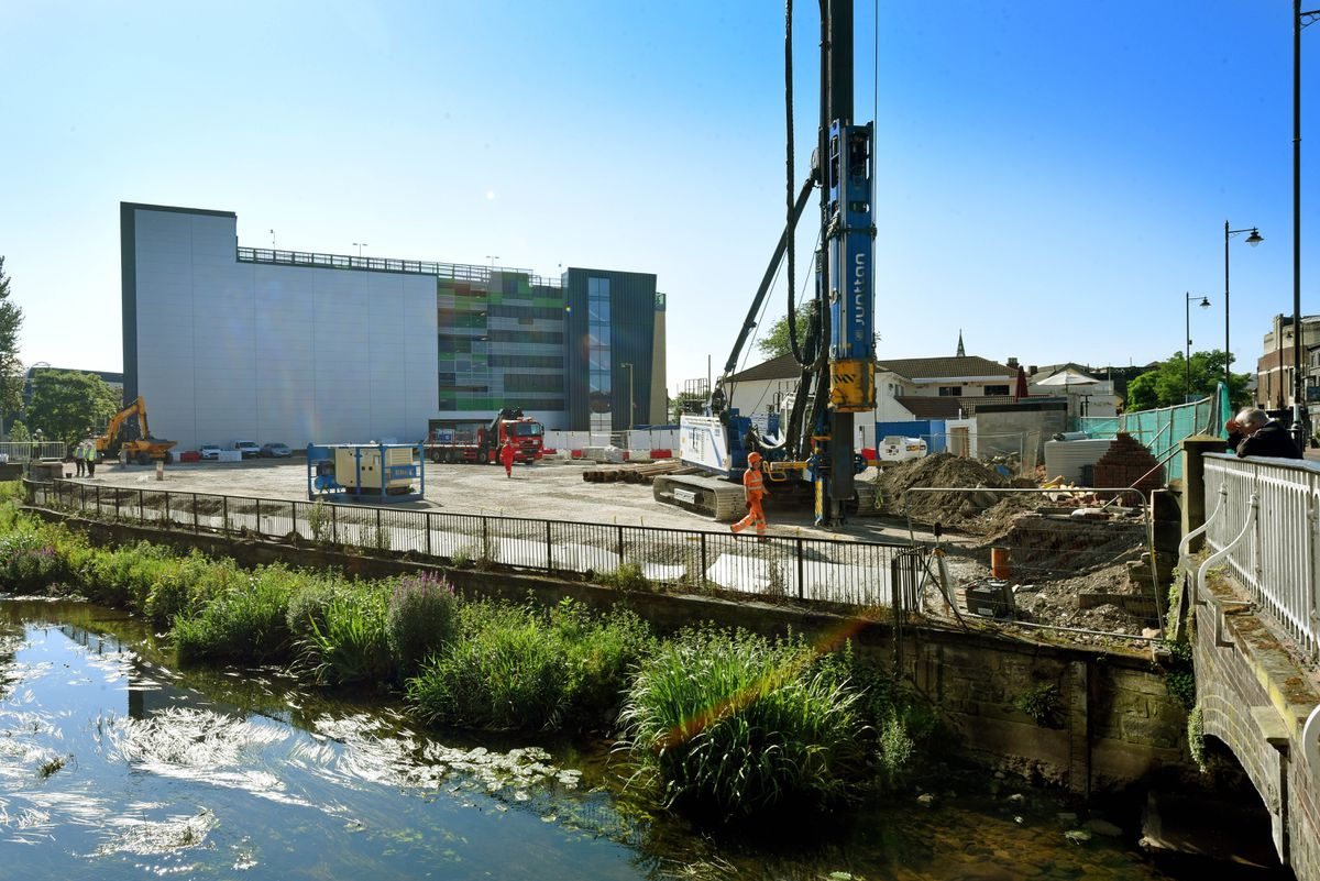 The latest work on the new cinema complex