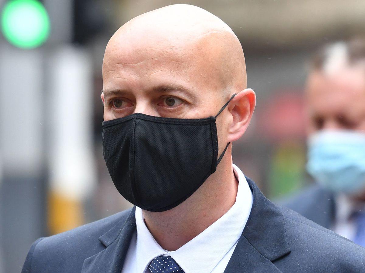 Pc Benjamin Monk arriving at Birmingham Crown Court