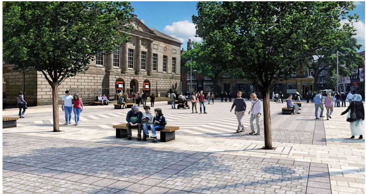 An image of how Stafford's Market Square could look in the future