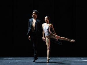 Yaoqian Shang as Juliet and Tyrone Singleton as Romeo in R&J Reimagined. Photo: Bill Cooper