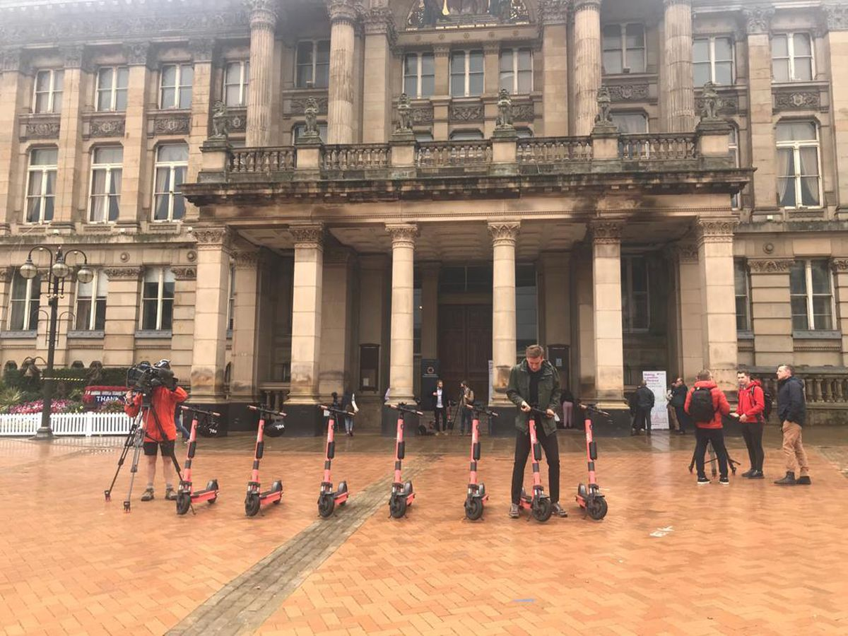The launch of the e-scooter scheme in Birmingham