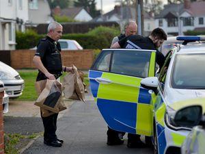 Officers raid a house in Croft Lane, Fallings Park, Wolverhampton