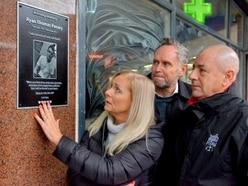 Plaque unveiled outside Stourbridge nightclub where Ryan Passey was stabbed - with VIDEO and PICTURES
