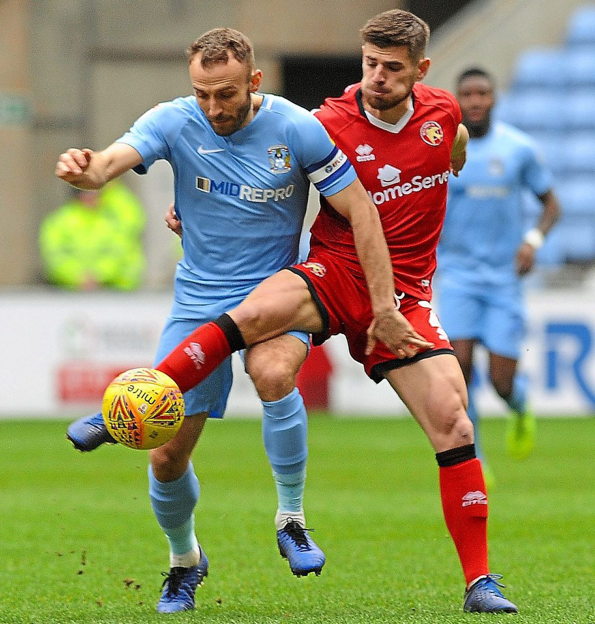 Joe Edwards in action for Walsall