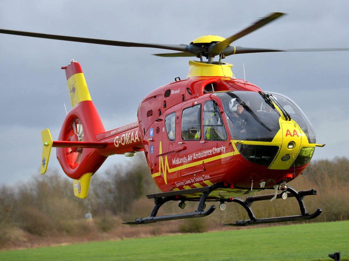 Stock photo of a Midlands Air Ambulance