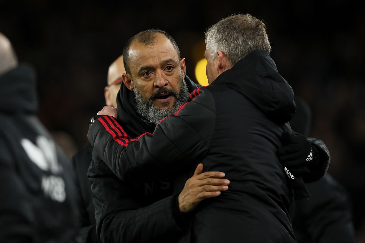 Nuno Espirito Santo the head coach / manager of Wolverhampton Wanderers and Ole Gunnar Solskjaer the head coach / manager of Manchester United (AMA)