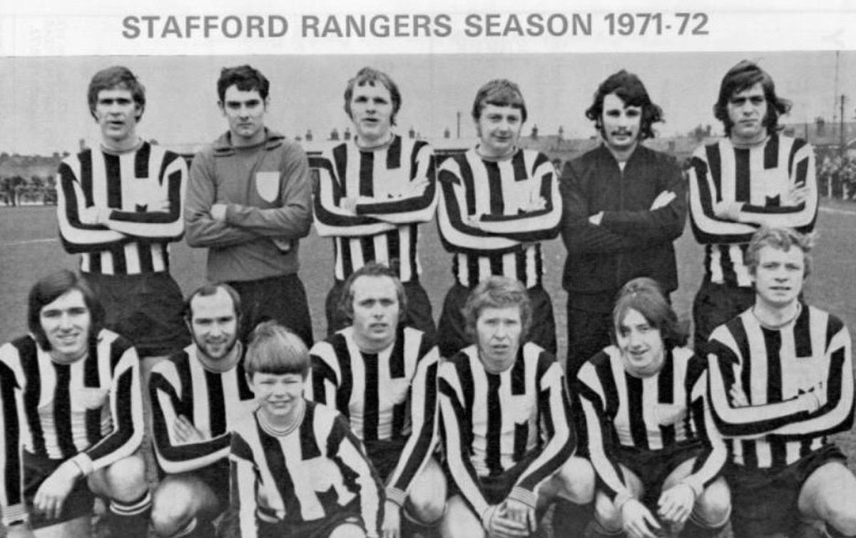 The Stafford Rangers 1971-72 team with Stuart Chapaman one in from the right on the front row. Picture: Staffordshire Archives and Heritage Service.