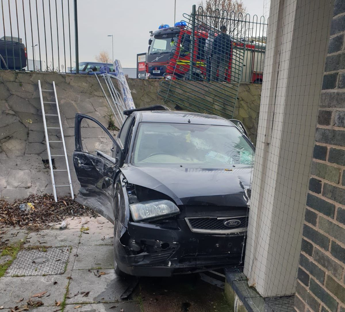 Police, paramedics and firefighters were all at the scene. Photo: Wolverhampton Fire
