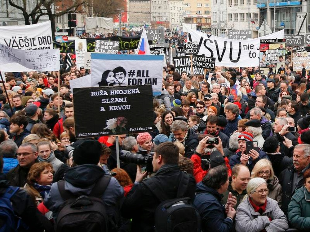 Thousands of Slovaks protest govt despite new PM