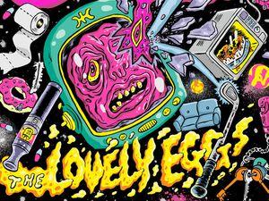 The album artwork for The Lovely Eggs's I Am Moros