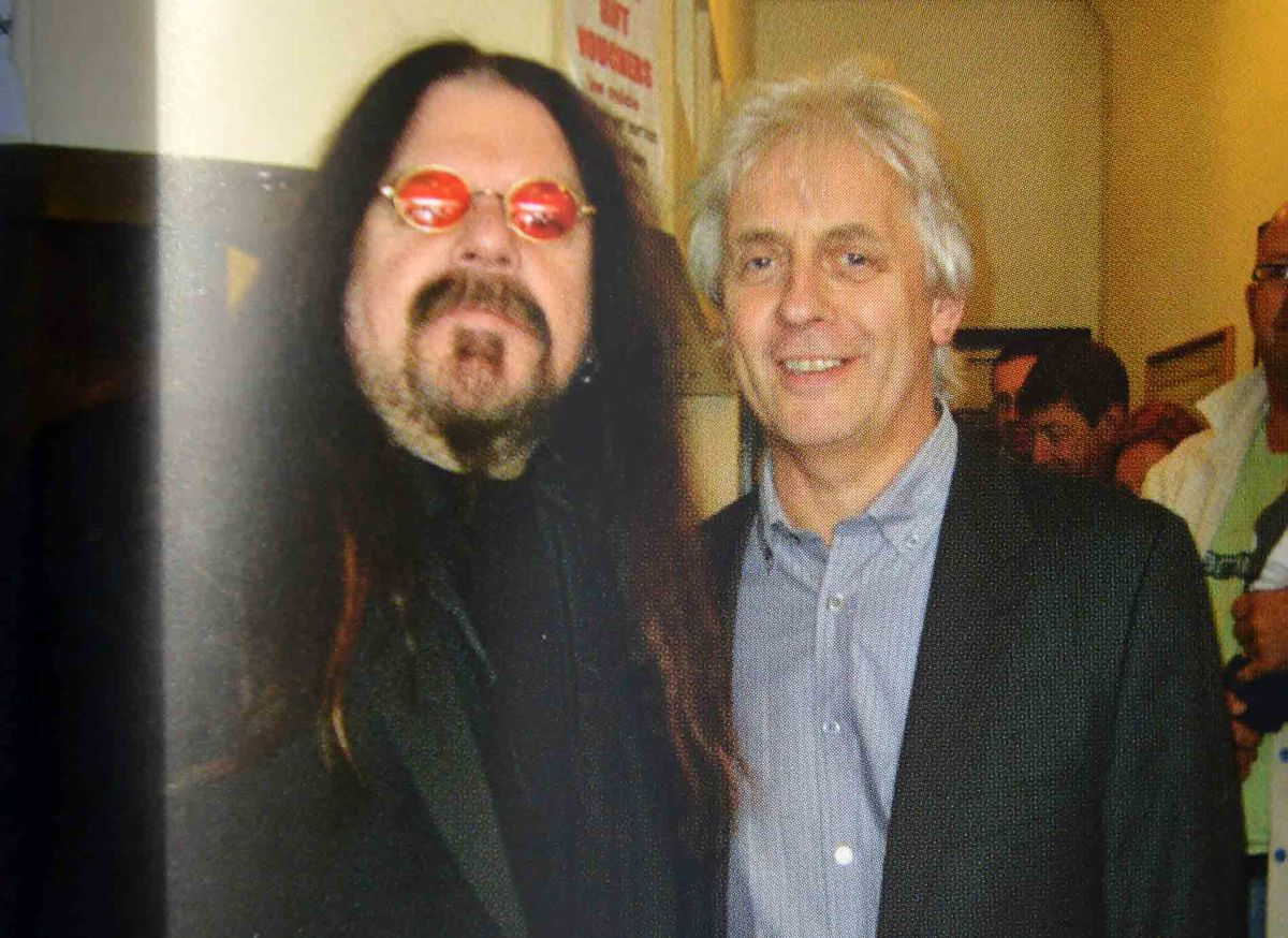 Mike Hamblett with Roy Wood