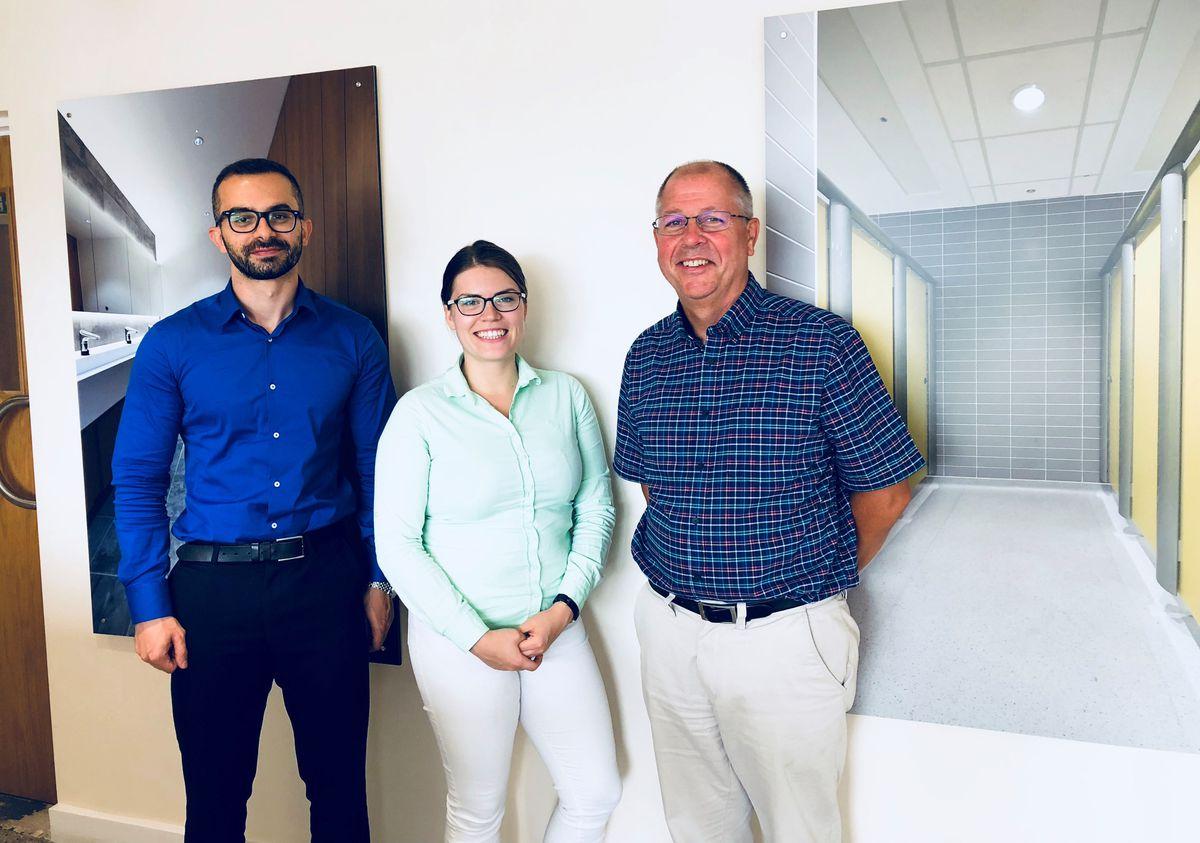 Dr Yahya Al-Saeed, KTP Associate; Erika Pärn, Knowledge Base Supervisor, Birmingham City University; and Steve Sanders, Contracts Manager, Excelsior