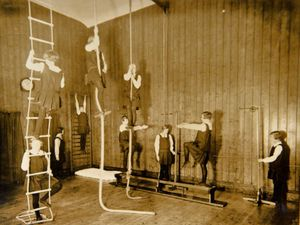 Pictured, The Ely House school gym