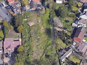 Land off Oxford Way in Tipton which had been earmarked for housing. PIC: Google Maps