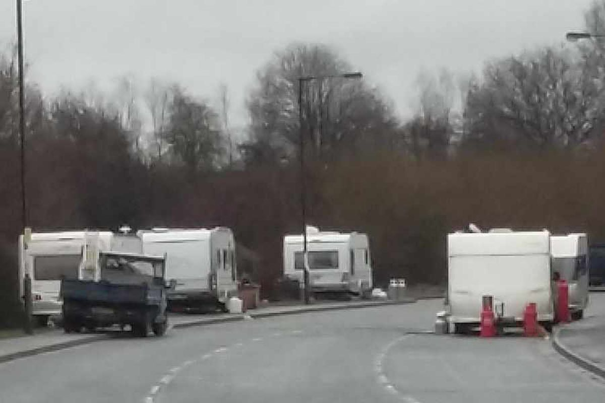 Travellers booted from Brownhills beauty spot