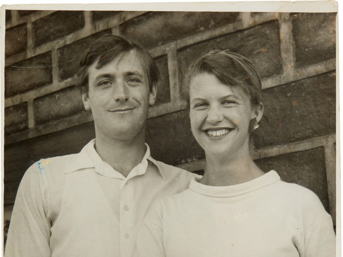 Portrait of Ted Hughes and Sylvia Plath