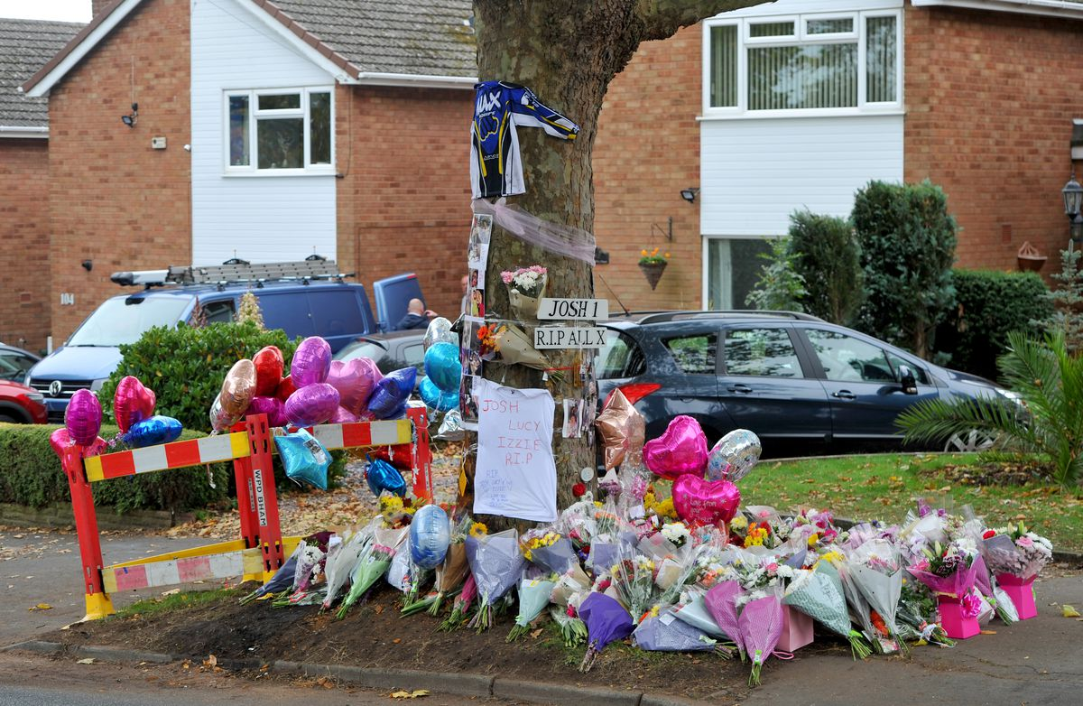 Tributes at the scene of the crash in Bromley Lane
