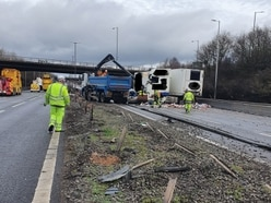 M6 closed for 'most of Sunday' in the Black Country after lorry crash