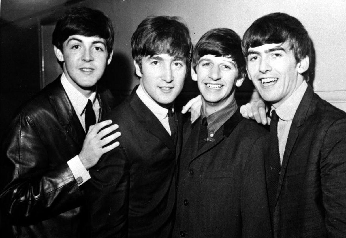 The Fab Four were among the famous guests.