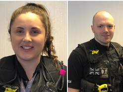 Two Staffordshire Police officers who detained woman with machete nominated for awards