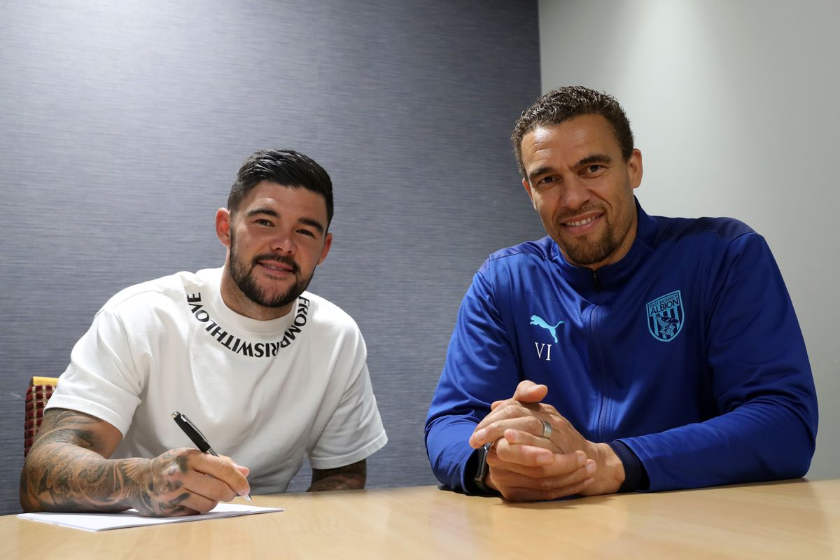 New signing for West Bromwich Albion Alex Mowatt  & Valerien Ismael head coach / manager of West Bromwich Albion.