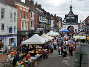 Bridgnorth High Street was closed to traffic on market day to allow more space