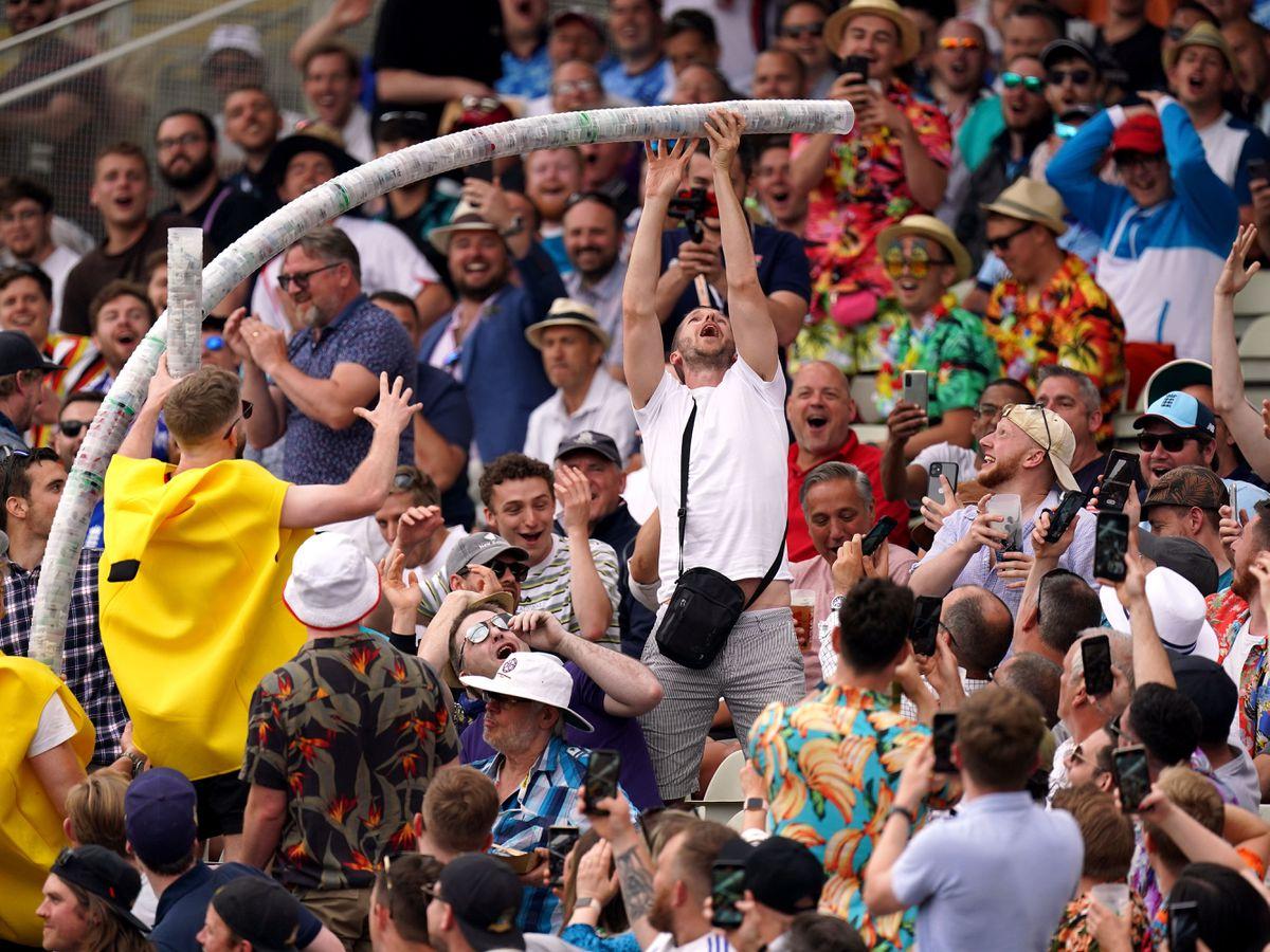 England fans enjoyed their return to Edgbaston