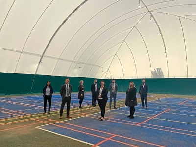 Rugeley school unveils new sports dome