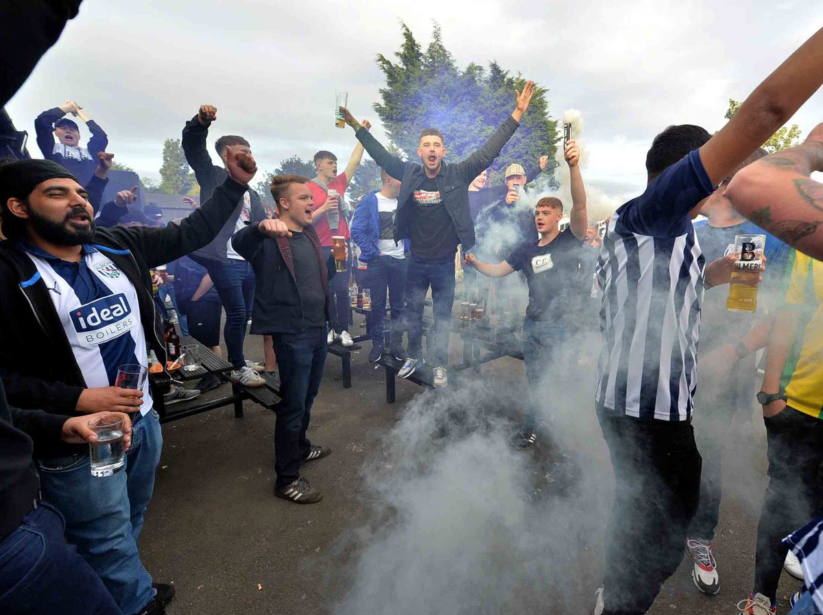Celebrations at The Sportsman Pub as West Brom win promotion