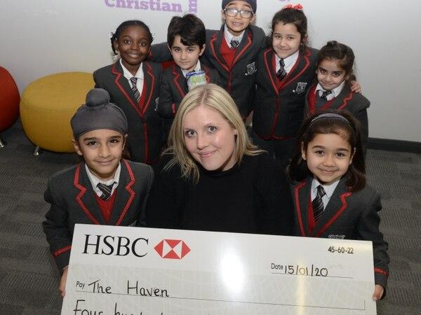 School pupils raise money for The Haven with Mander Centre singalong