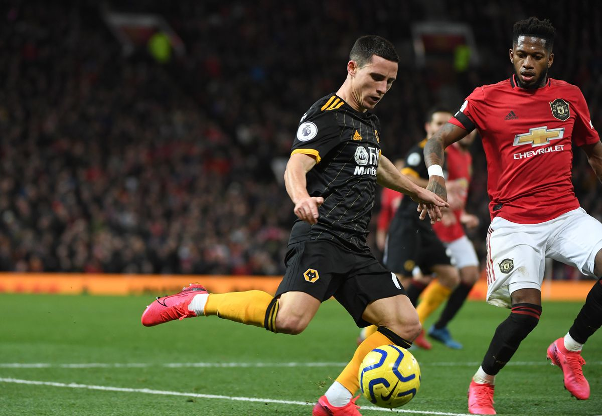 Daniel Podence of Wolverhampton Wanderers and Fred of Manchester United (AMA)