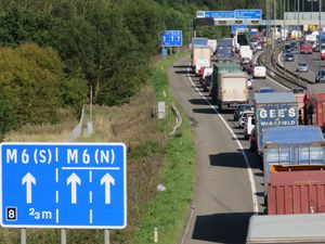 The M5 near West Bromwich and its link with the M6 was closed after a dog ran loose. (Library image)