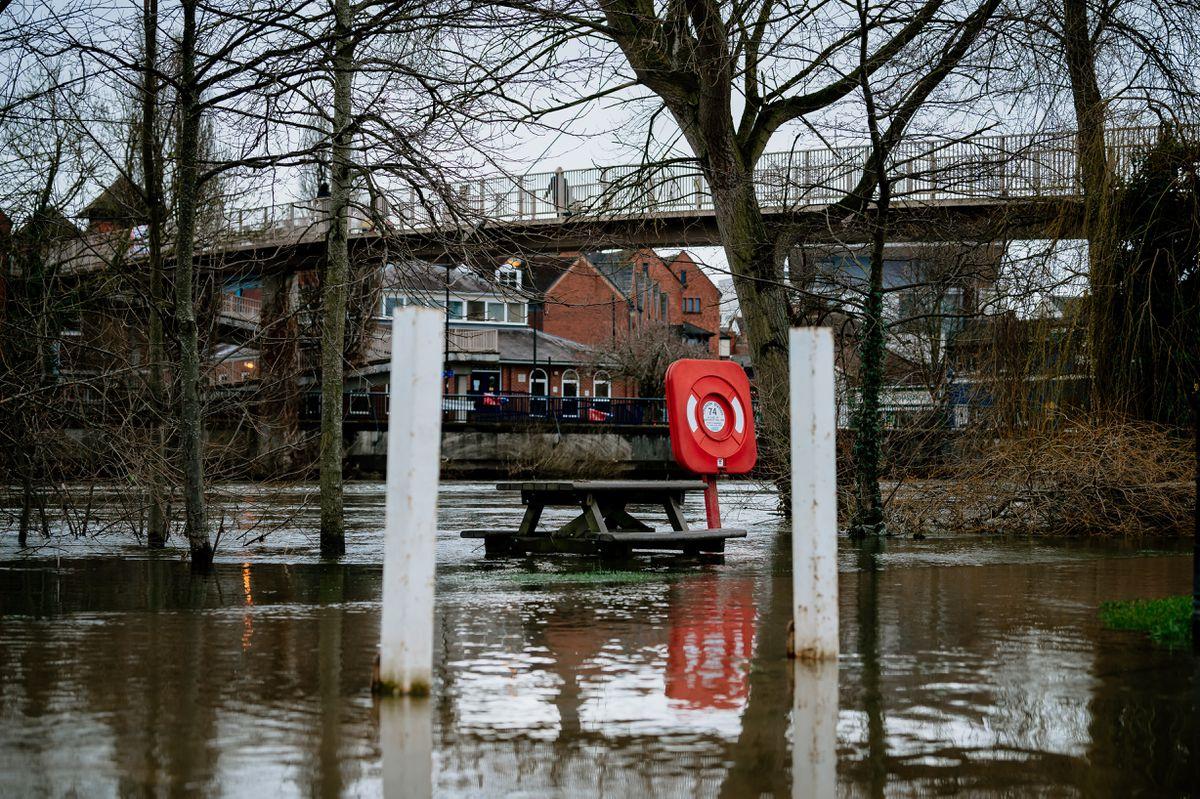 Flooding at Shrewsbury in February