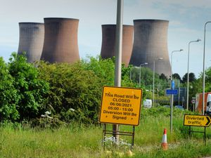 Roads including the A51 will be closed as the cooling towers are demolished at Rugeley Power Station