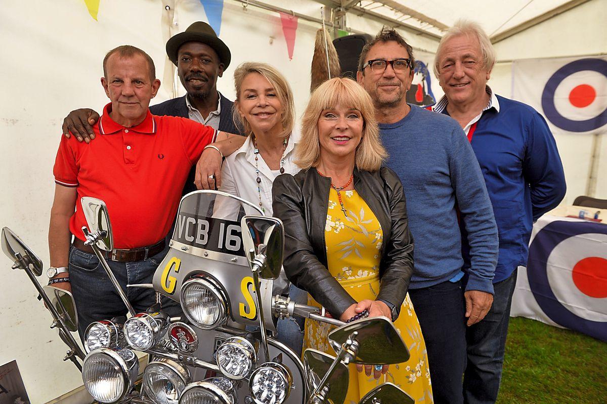 The cast of Quadrophenia reunite, left , Gary Shail, Trevor Laird, Lesley Ash, Toyah, Phil Daniels and Mark Wingett