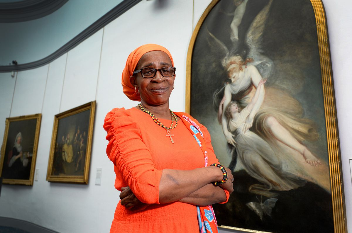 WOLVERHAMPTON COPYRIGHT EXPRESS&STAR TIM THURSFIELD 09/05/18.Paulette Wilson, who launched the Paulette Wilson Windrush Citizenship Project at Wolverhampton Art  Gallery..