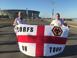 Wolves fans' flag stolen at England v Tunisia World Cup match