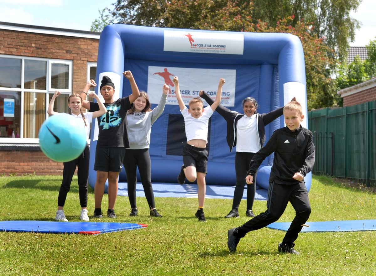 The penalty challenge at Perry Hall Primary School