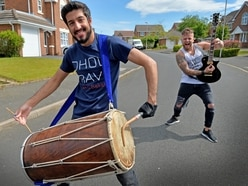 Neighbours bring rock and dhol to Dudley