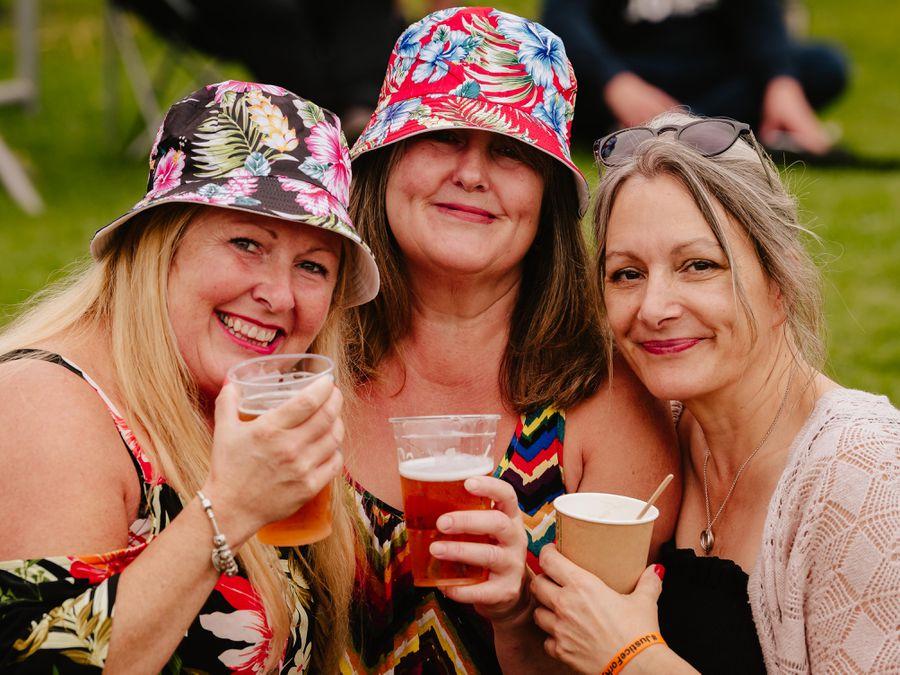 Lisa Hartshorne, Dawn Piper and Debbie Pelaud from Stourbridge enjoying the festival