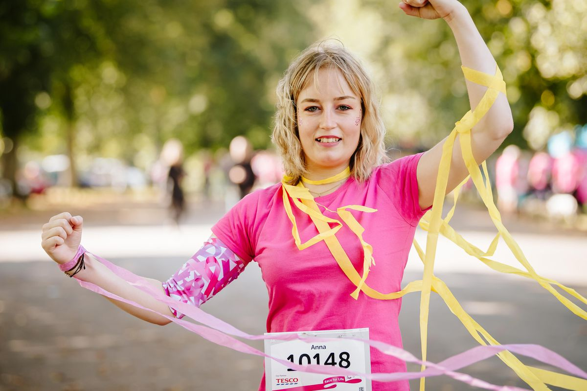 Anna Cartlidge, who has recently been diagnosed with cancer, was among those taking part in Race for Life