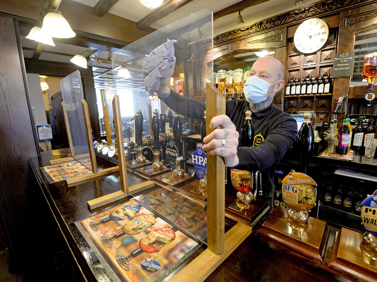 New owner Martin Cadman of the Lych Gate Tavern, Wolverhampton, prepares for re-opening on Monday