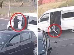 WATCH: Gun attack caught on camera as car rammed off road