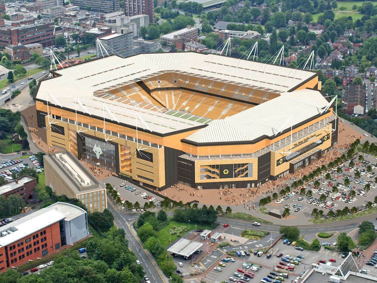 An overhead shot of how Molineux could look (pic courtesy of Wolves)