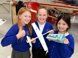 Olivia Stevens, Kaci Mountcastle and Shay-Louise Maiden from Wrockwardine Wood Junior School, Telford
