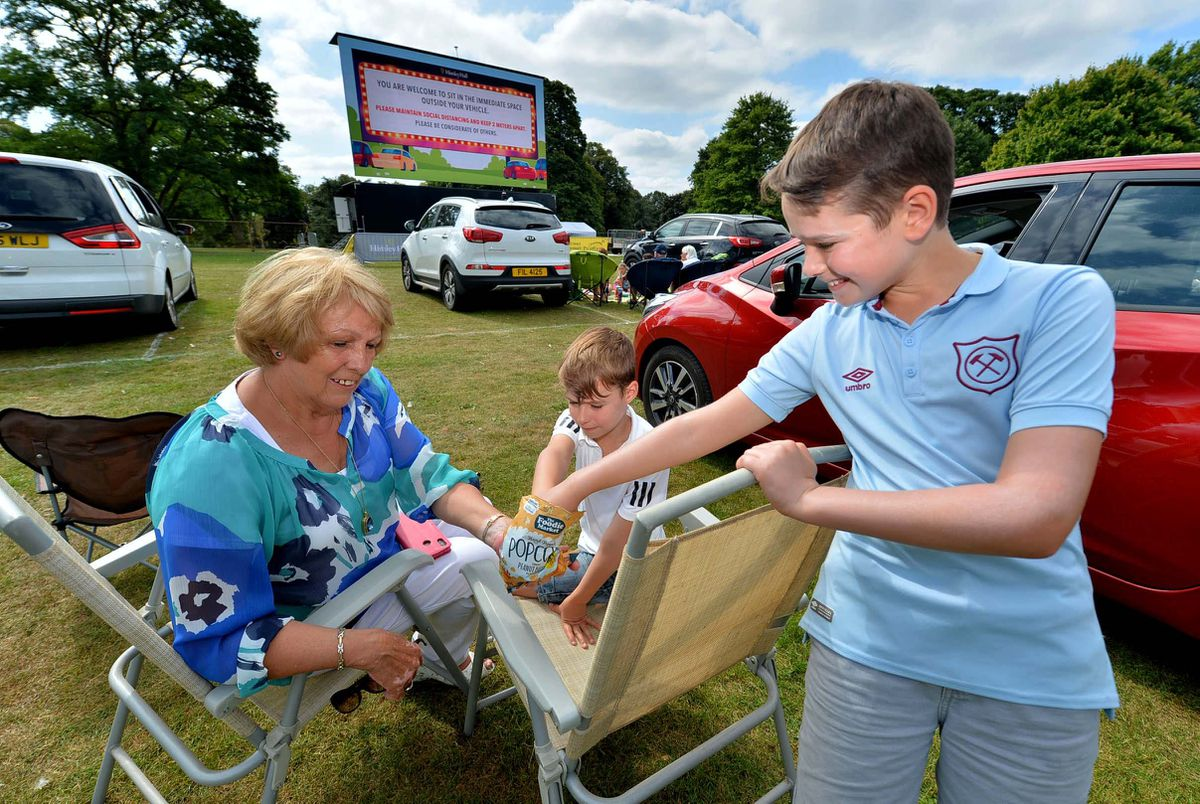 Sonya Hill from Kingswinford, treated her two grandchildren George (8) and Jacob Smalley (11) to a day out at the cinema