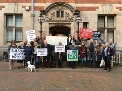 Protesters speak out against no-deal Brexit outside Stafford council meeting
