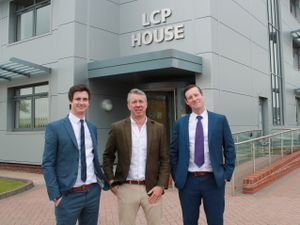 Martin Wade, Barry Flint and Simon Eatough at LCP headquarters in Kingswinford